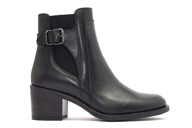Alpe Black Heeled Boot
