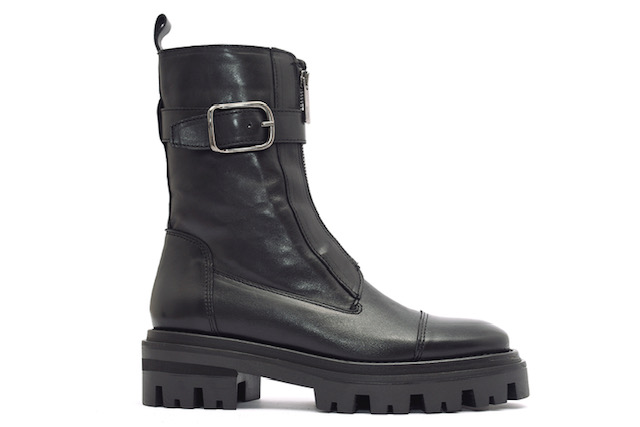 Alpe Black Buckle Boot